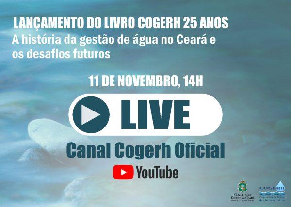 Livro que marca trajetória de 25 anos da Cogerh será lançado em live